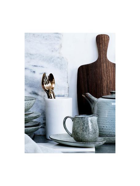 Handgemaakte melkkan Nordic Sea van keramiek, 300 ml, Keramiek, Grijs- en blauwtinten, Ø 12 x H 9 cm