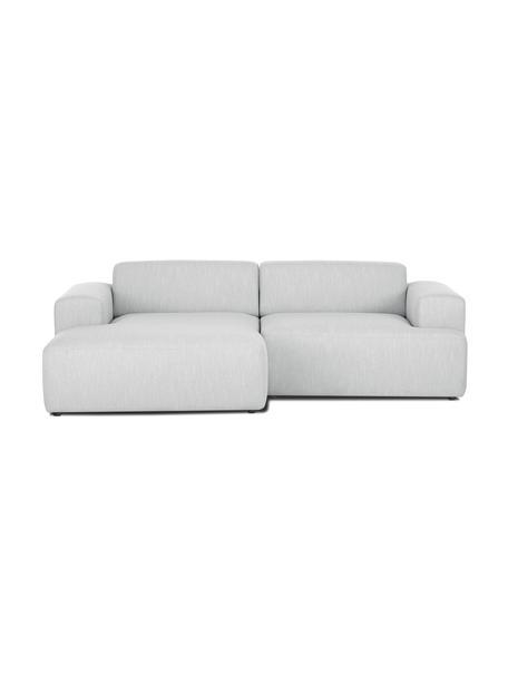 Ecksofa Melva (3-Sitzer) in Hellgrau, Bezug: 100% Polyester Der hochwe, Gestell: Massives Kiefernholz, FSC, Webstoff Hellgrau, B 239 x T 143 cm