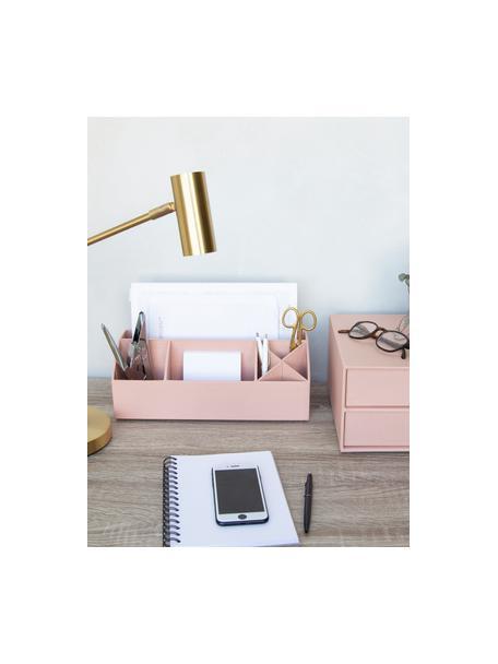 Organizador de escritorio Elisa, Cartón laminado macizo, Rosa palo, An 33 x Al 13 cm