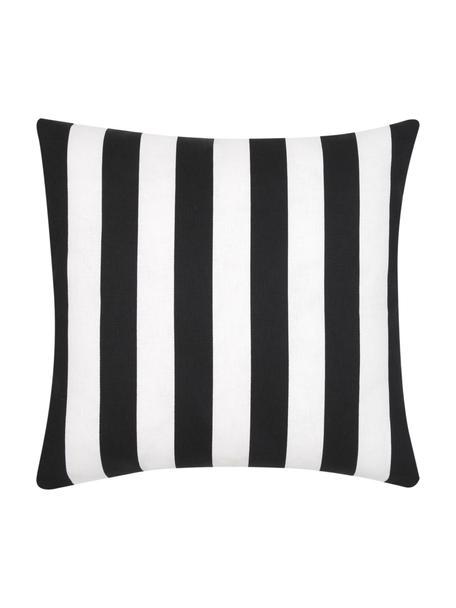 Federa arredo a righe color nero/bianco Timon, 100% cotone, Nero, bianco, Larg. 40 x Lung. 40 cm