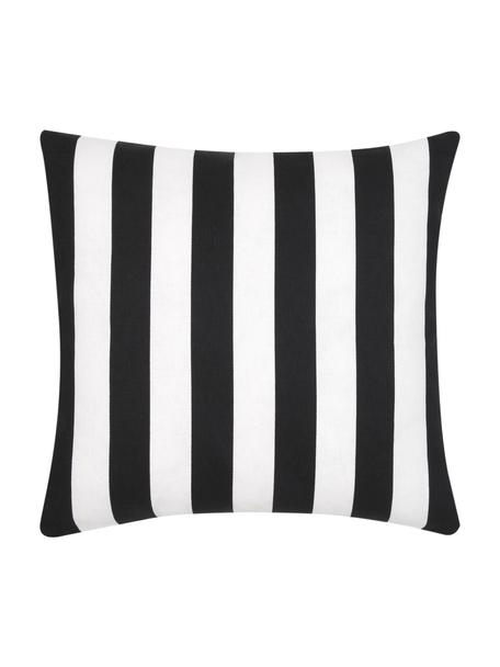 Federa arredo a righe nero/bianco Timon, 100% cotone, Nero, bianco, Larg. 45 x Lung. 45 cm