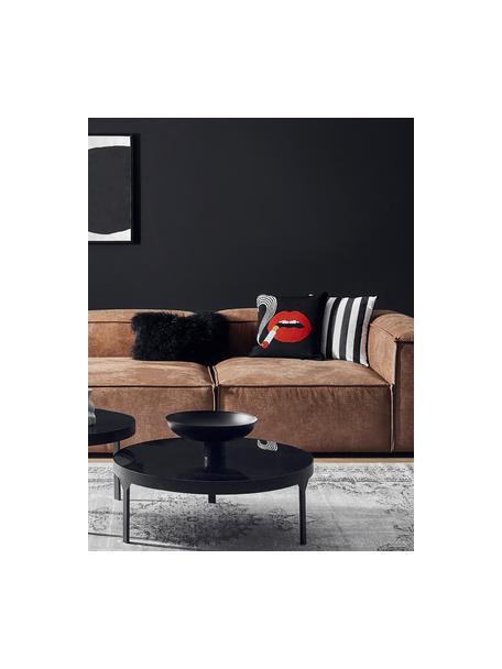 Gestreepte kussenhoes Timon in zwart/wit, 100% katoen, Zwart, wit, 45 x 45 cm