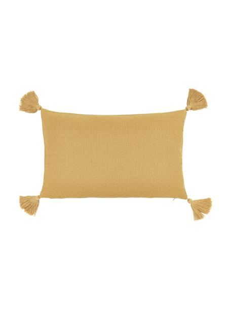 Poszewka na poduszkę z chwostami Lori, 100% bawełna, Żółty, S 30 x D 50 cm