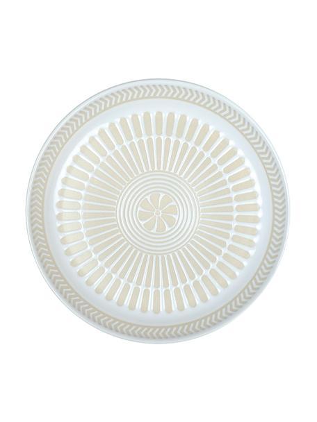 Piattino da dessert in porcellana con motivo interno a rilievo Sonia 2 pz, Porcellana, Bianco, Ø 16 cm
