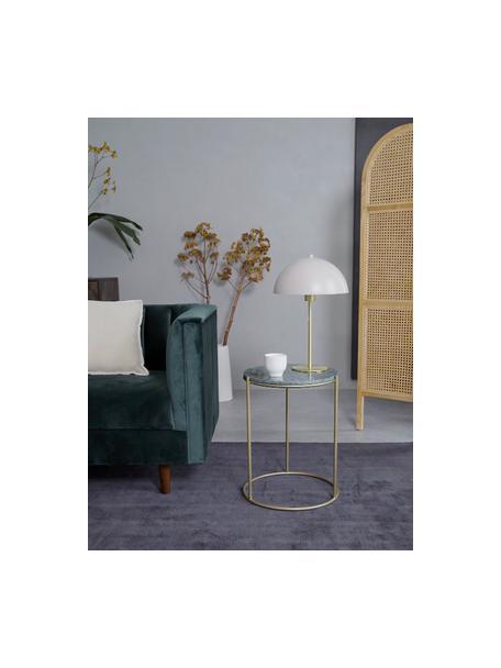 Okrągły stolik pomocniczy z marmuru Ella, Blat: marmur, Stelaż: metal malowany proszkowo, Blat: zielony marmur Stelaż: odcienie złotego, matowy, Ø 40 x W 50 cm