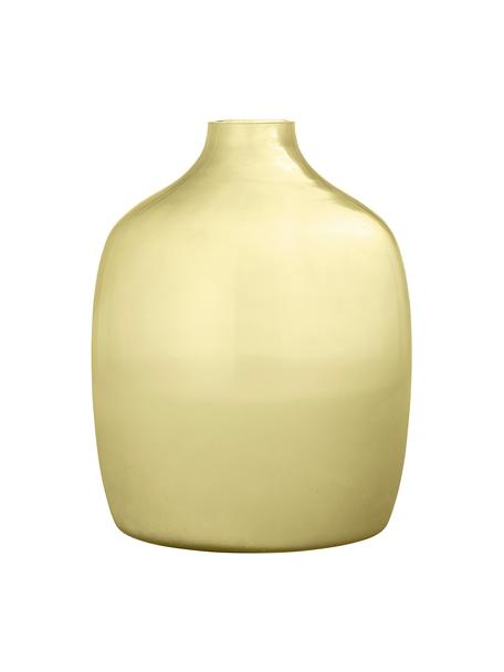 Glazen vaas Idima in geel, Glas, Geel, transparant, Ø 24 x H 30 cm