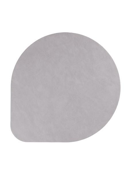 Kunstleder-Tischsets Povac, 2 Stück, Kunstleder (PVC), Grau, Ø 37 cm