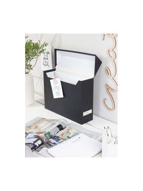 Dossierorganizer Lovisa, 13-delig, Organizer: massief, gelamineerd kart, Zwart, 33 x 24 cm