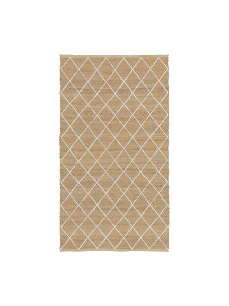 Handgefertigter Jute-Teppich Kunu, 100% Jute, Beige, B 80 x L 150 cm (Grösse XS)