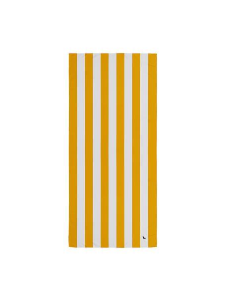 Microfaser-Strandtuch Cabana, schnell trocknend, Microfaser (80% Polyester, 20% Polyamid), Orange, Weiss, 90 x 200 cm