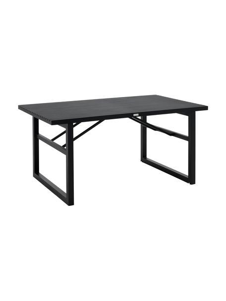 Tavolo da giardino in alluminio nero Vevi, Alluminio verniciato a polvere, Nero, Larg. 160 x Prof. 90 cm