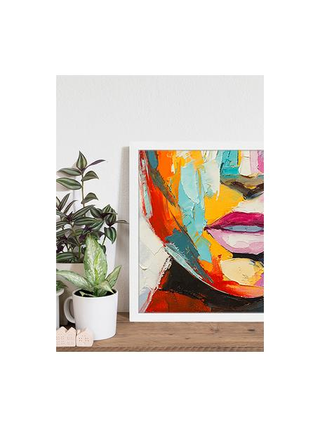 Ingelijste digitale print Colorful Emotions, Afbeelding: digitale print op papier,, Lijst: gelakt hout, Multicolour, 53 x 43 cm