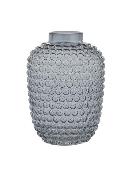 Vaso di design in vetro soffiato Dorinia, Vetro, Blu trasparente, Ø 18 cm