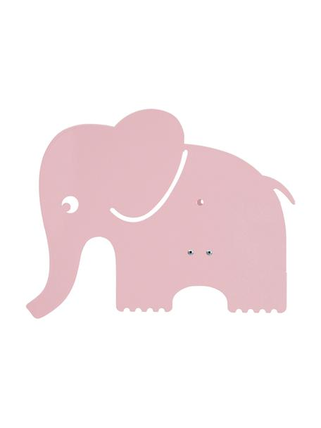 Applique elefantino in metallo Elephant, Metallo verniciato a polvere, Rosa chiaro, Larg. 33 x Alt. 29 cm