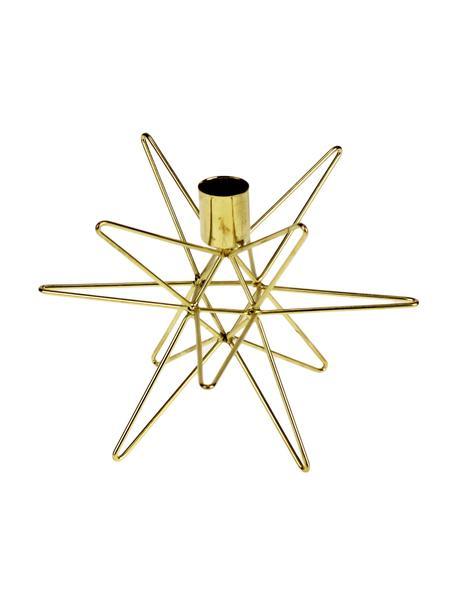 Świecznik Cosma, Metal lakierowany, Odcienie mosiądzu, Ø 19 x W 12 cm