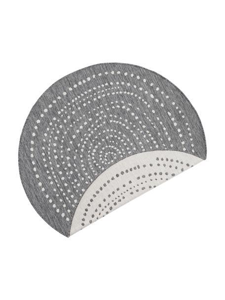 Tappeto rotondo reversibile da interno-esterno Bali, Grigio, color crema, Ø 140 cm (taglia M)
