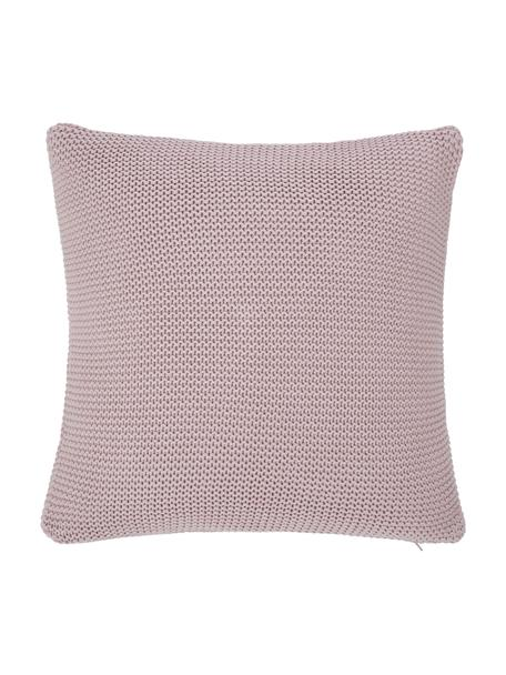 Funda de cojín de punto Adalyn, 100%algodón, Rosa palo, An 40 x L 40 cm