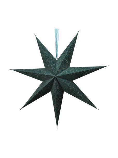 Set 2 stelle luminose a LED Amelia Ø 60 cm, Carta, Verde, Larg. 60 x Alt. 60 cm