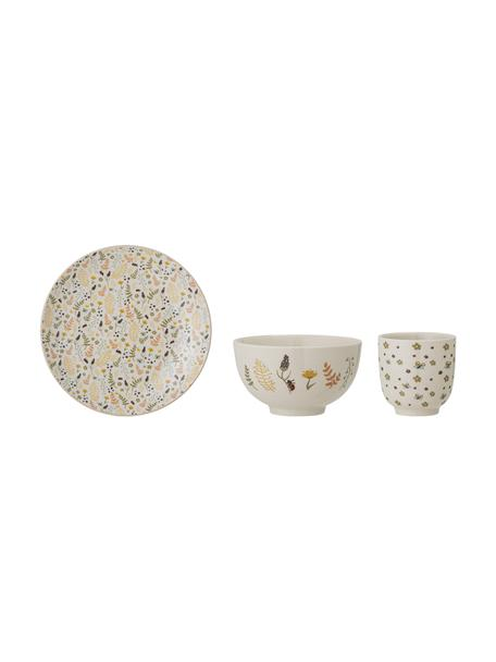 Kinderservies Harvest van keramiek, 3-delig, Keramiek, Beige, multicolour, Set met verschillende formaten