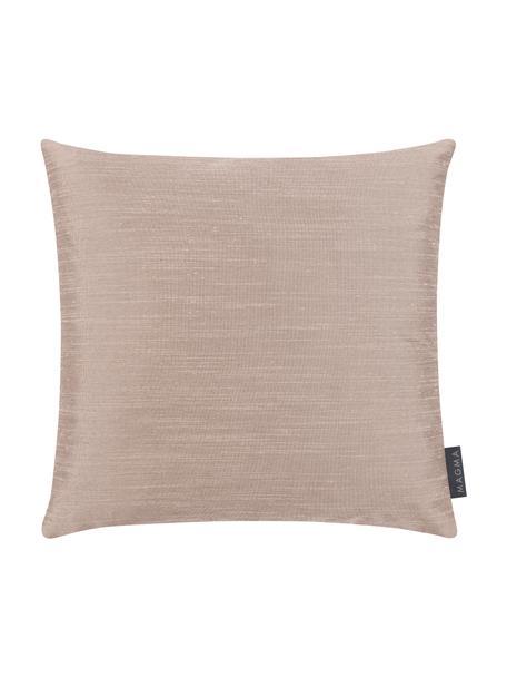 Kussenhoes Malu in zijdelook, 100% polyester, Beige, 40 x 40 cm