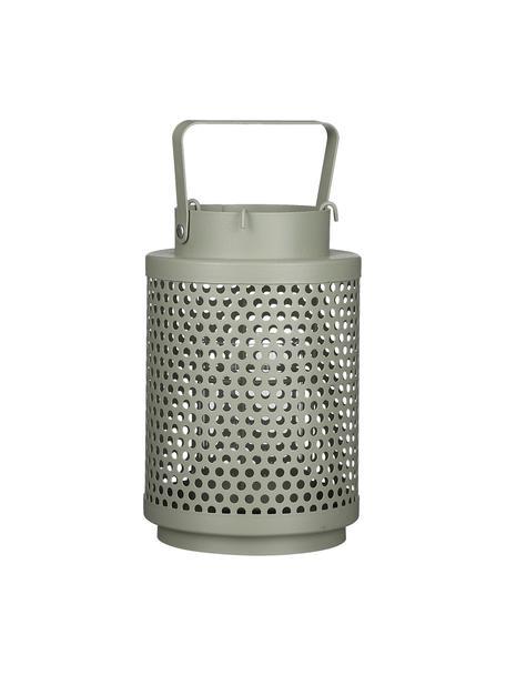 Lantaarn Barney, Gecoat metaal, Saliegroen, Ø 12 x H 19 cm