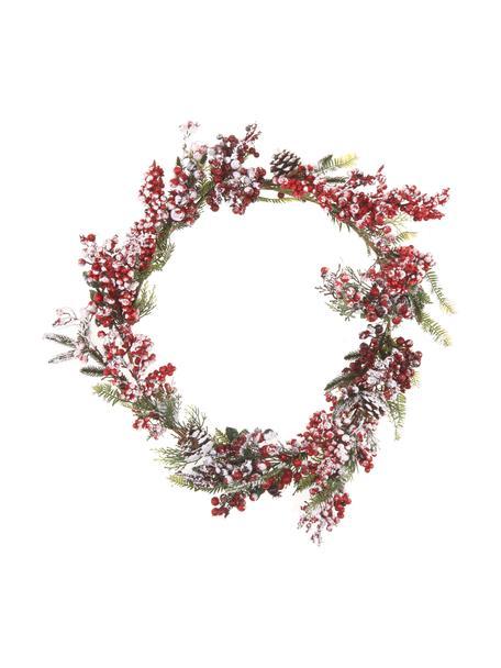 Tannengirlande Patricia L 180 cm, Kunststoff, Rot, Grün, Weiß, Ø 20 x L 180 cm