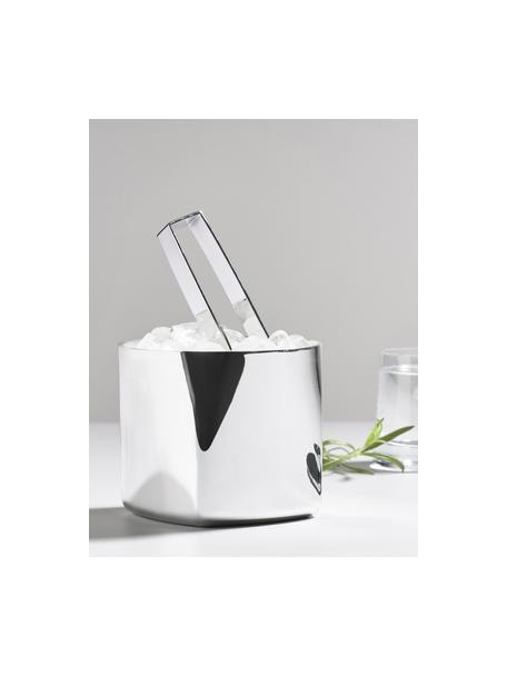 Eiseimer Rocks mit Eiszange, 2er-Set, 18/8 Stahl, Silberfarben, Ø 13 x H 13 cm