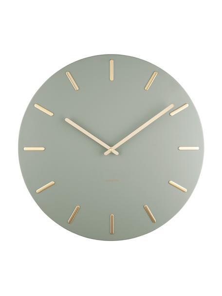 Reloj de pared Charm, Metal recubierto, Verde, Ø 45 cm