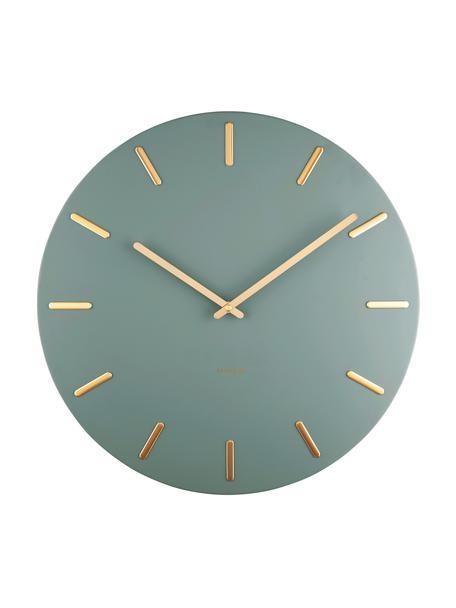 Orologio grande da parete Charm, Metallo rivestito, Verde, Ø 45 cm
