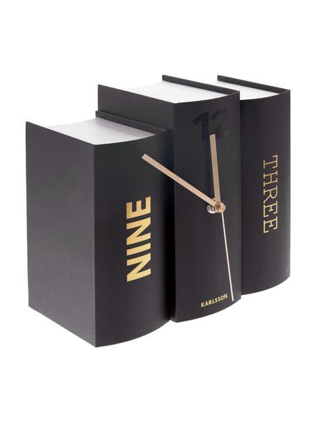 Reloj Book, Papel, Negro, dorado, An 20 x Al 20 cm