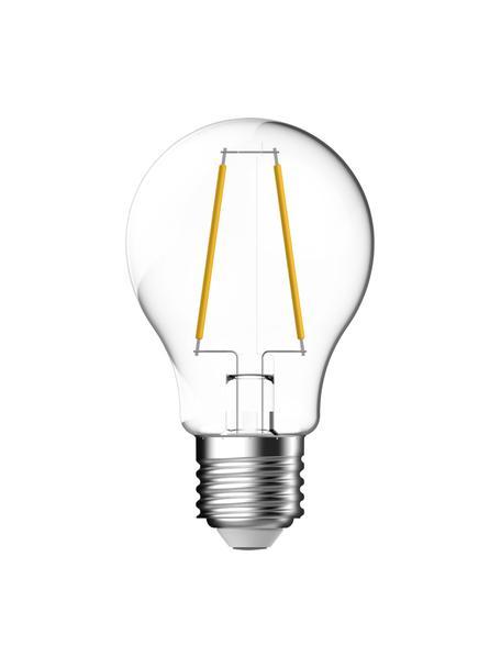 Bombillas E27, 470lm, blanco cálido, 3uds., Ampolla: vidrio, Casquillo: aluminio, Transparente, Ø 6 x Al 10 cm