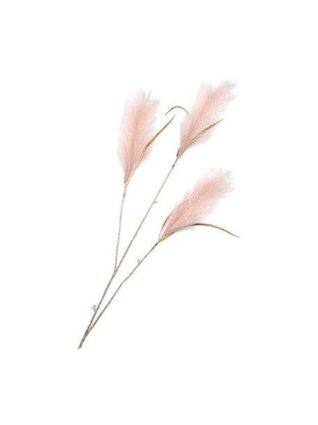 Kunstblume Pampasgras, Rosa, Kunststoff, Metalldraht, Rosa, L 99 cm
