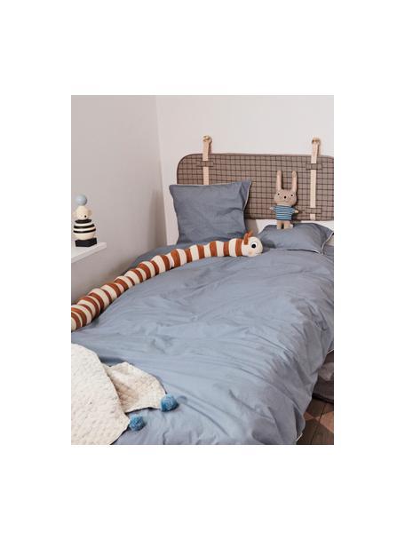 Cuscino soffice a bruco Leo, Cotone, Marrone caramello, chiazzato, bianco latteo, Lung. 140 cm