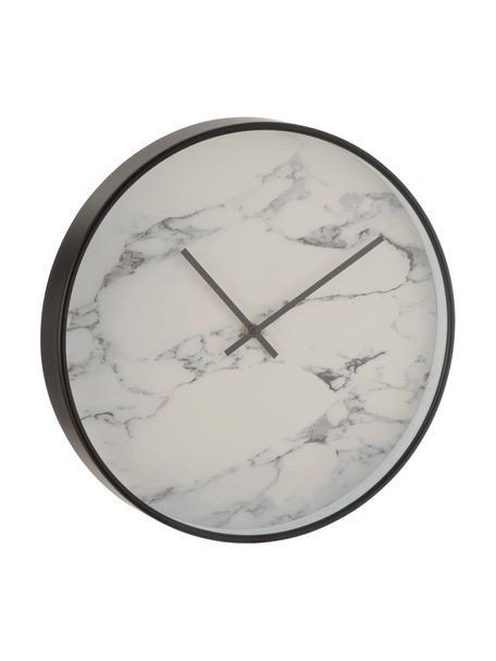 Reloj de pared Marble, Plástico, Negro, Ø 40 cm