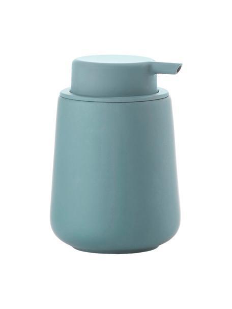 Zeepdispenser Cameo, Houder: keramiek overtrokken met , Blauw, Ø 10 x H 14 cm