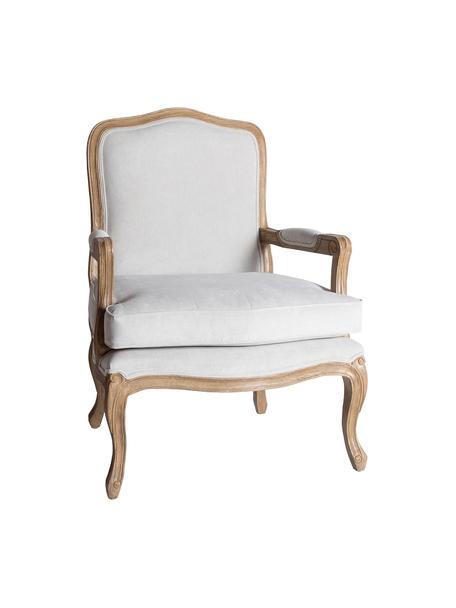 Poltrona in legno Riviera, Struttura: legno Sungkai solido Sedu, Bianco, Larg. 68 x Prof. 74 cm