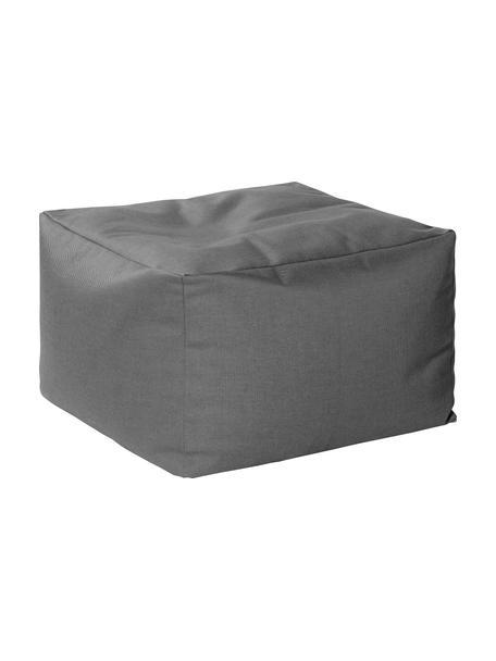 Puf de interior/exterior Loft, Tapizado: 100%poliacrílico, fibras, Gris antracita, An 80 x F 80 cm