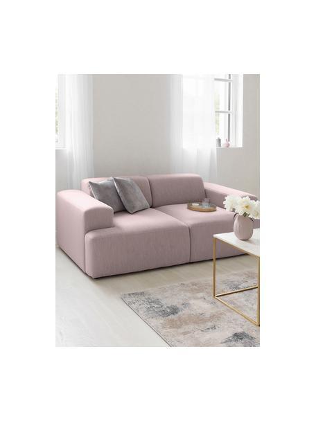 Bank Melva (2-zits) in roze, Bekleding: 100% polyester, Frame: massief grenenhout, FSC-g, Poten: kunststof, Roze, 198 x 101 cm