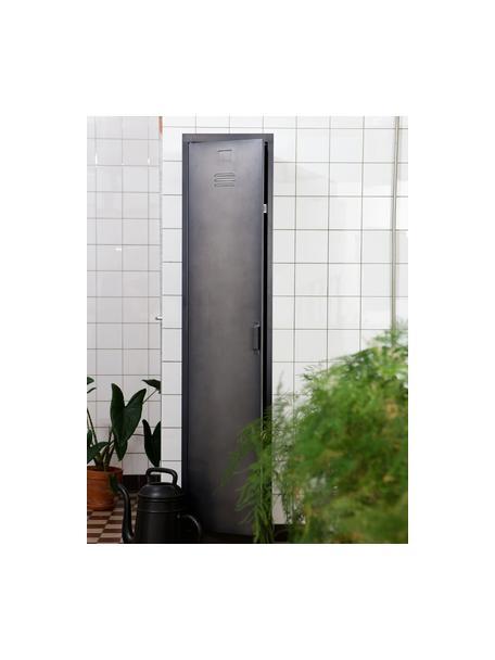 Metall-Spind Cas mit Tür, Metall, beschichtet, Dunkelgrau, 38 x 180 cm