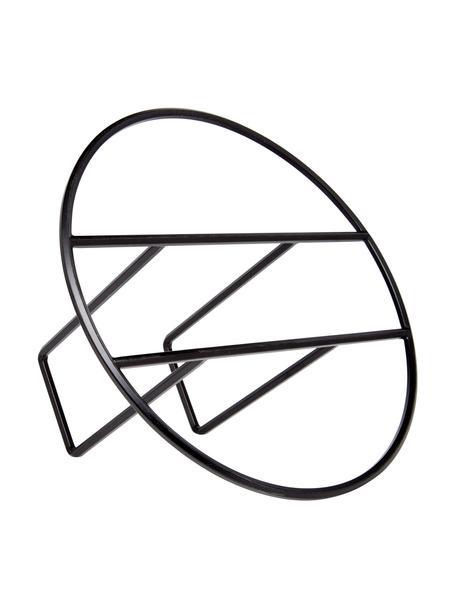 Tijdschriftenhouder Hoop, Gelakt metaal, Zwart, Ø 35 x H 21 cm