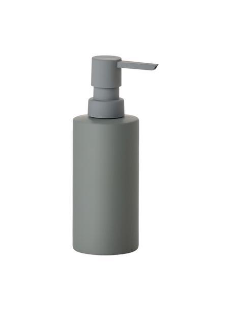 Dozownik do mydła z porcelany Solo, Porcelana, Ciemny zielony, Ø 6 x W 18 cm
