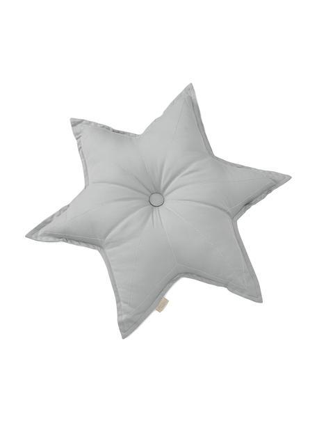 Cojín de algodón ecológico Star, con relleno, Exterior: 100% algodón orgánico, ce, Gris, An 45 x L 45 cm