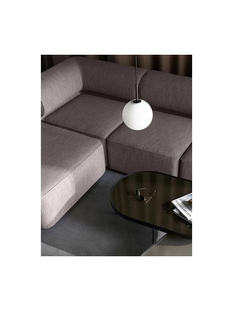 Lámpara de techo pequeña de vidrio opalino LED TR Bulb, Pantalla: vidrio opalino, Anclaje: plástico, Cable: cubierto en tela, Blanco, negro, Ø 20 x Al 32 cm
