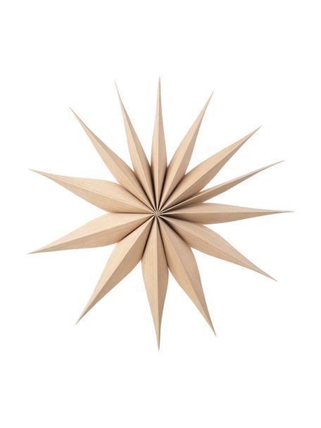Deko-Sterne Venice aus Holz, 2 Stück, Pappelholz, Hellbraun, Ø 40 cm