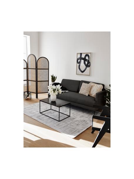 Sofa Fluente (3-Sitzer) in Dunkelgrau mit Metall-Füssen, Bezug: 100% Polyester Der hochwe, Gestell: Massives Kiefernholz, Webstoff Dunkelgrau, B 196 x T 85 cm