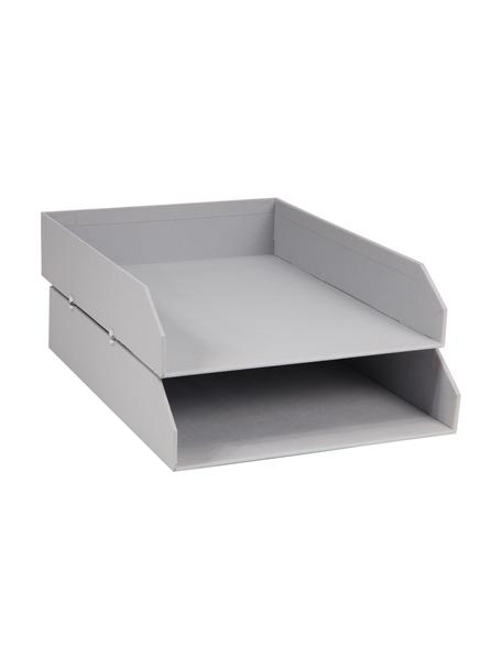 Organizer per documenti Hakan 2 pz, Solido cartone laminato, Grigio chiaro, Larg. 23 x Prof. 31 cm