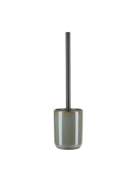 Scopino con contenitore in ceramica Tin, Contenitore: ceramica, Verde, nero, Ø 10 x Alt. 39 cm