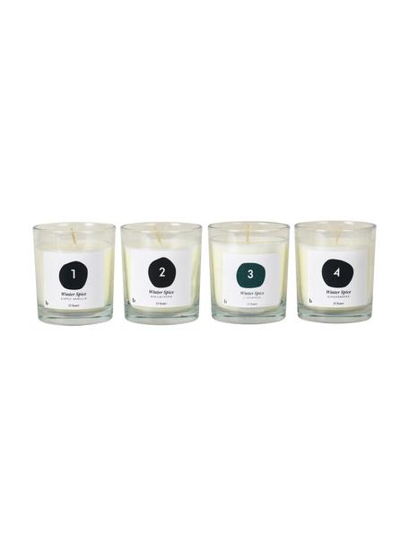 Velas perfumadas de Adviento Lilu, 4uds., Cera, Blanco, Ø 7 x Al 8 cm