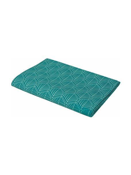 Tischdecke Bali Leaf, 100% Polyester, Türkis, Weiß, Für 6 - 10 Personen (B 140 x L 240 cm)