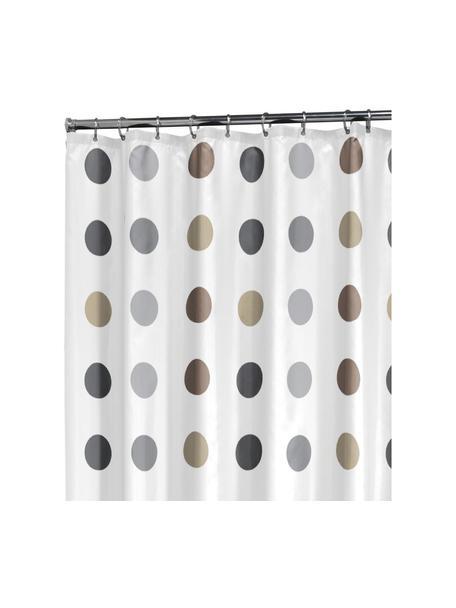 Duschvorhang Twister, 100% Polyester Wasserabweisend, nicht wasserdicht, Weiß, Beige, Taupe, Grau, 180 x 200 cm